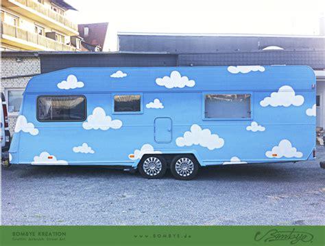 Lackierung Wohnwagen by Airbrush Lackierung Bombye Kreation Fassadenmalerei