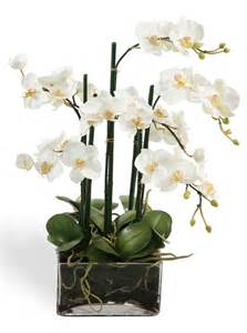 centerpieces with orchids faux white orchid centerpiece in glass buss fiorina