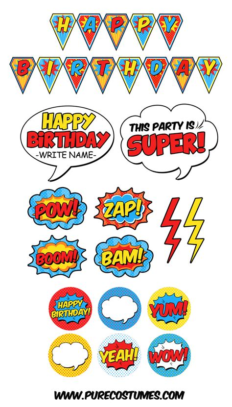 printable superman party decorations free superhero pary printables superhero party party