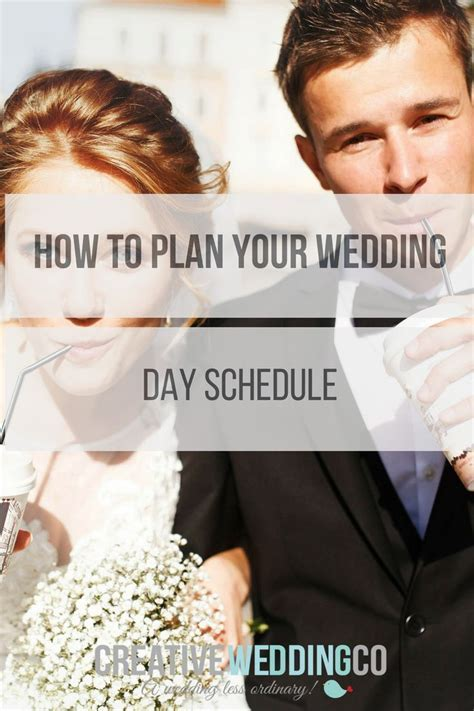 25  best ideas about Wedding day schedule on Pinterest