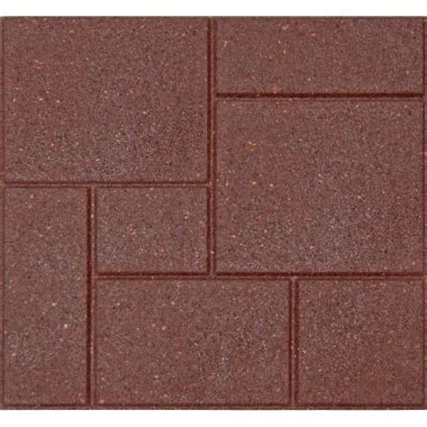 patio pavers recycled rubber envirotile cobblestone 18 in x 18 in terra cotta rubber