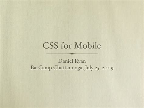 css for mobile css for mobile