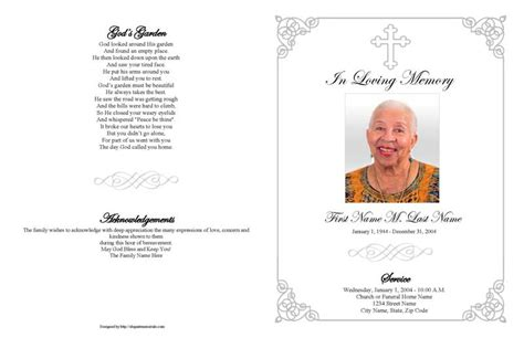 Funeral Booklet Templates funeral booklet template images