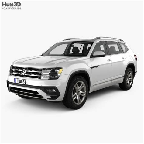 Volkswagen Atlas R Line With Hq Interior 2017 3d Model Hum3d