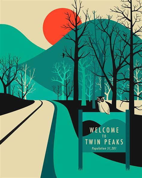 Home Decor Wall Posters twin peaks travel poster digital art by jazzberry blue