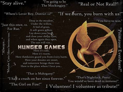 theme of the hunger games with quotes the hunger games quotes by mockingjay rue on deviantart