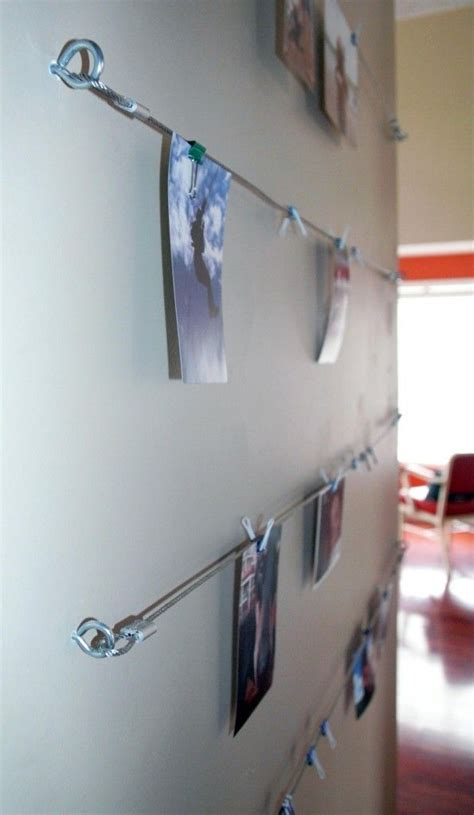 hang photos from wire diy wire picture hanging system by the house of bing bob