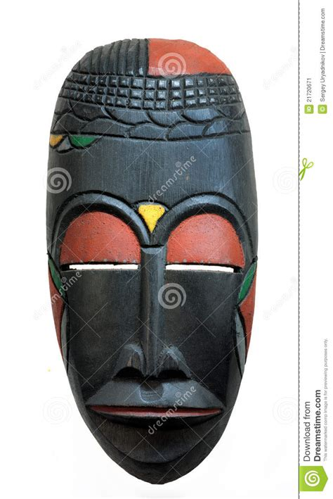 african face mask stock image image  carved
