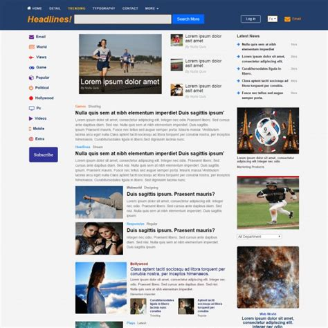 bootstrap templates for news websites great latest templates for website images resume ideas