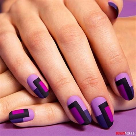 color nails cool color block nail designs hative