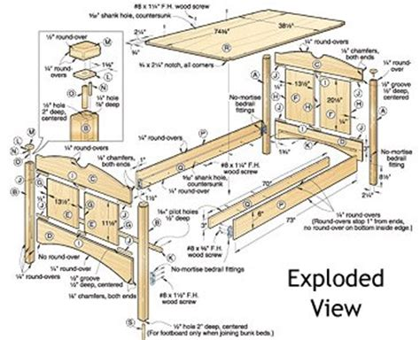 Parts Of A Bunk Bed Woodwork Bunk Bed Plans Hardware Pdf Plans