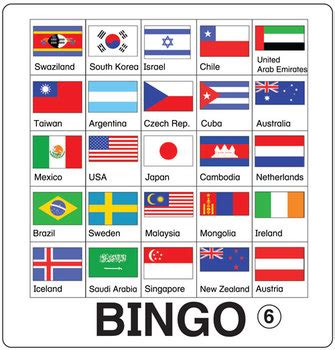 flags of the world game printable esl games flag bingo by donald s english classroom tpt