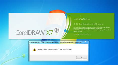 corel draw x7 unable to load vgcore dll unable to load vgcore dll tutorial aprils anybody can