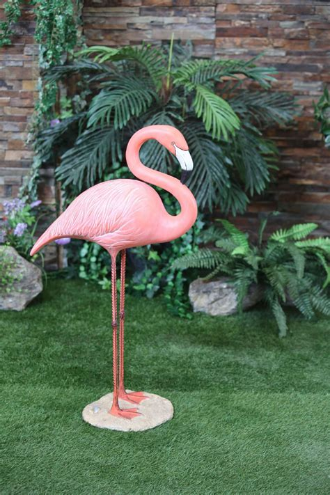 Flamingo Garden Decor Large Flamingo Statue Standing Outdoor Living Outdoor Decor Lawn Ornaments Statues