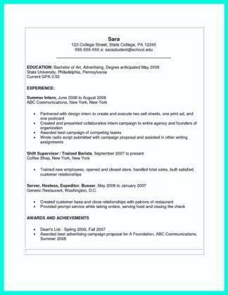 The Perfect College Resume Template To Get A Job How To Write A Resume In Simple Steps Resume Templates Microsoft Word 2007