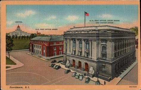 Post Office Providence Ri by Buildings Architecture Collectible Postcards Showing