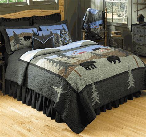 Lake Bedding by Rustic Bedding Size Lake Basic Bed Set Black