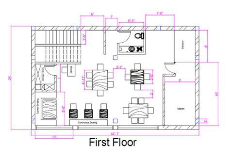 ice cream shop floor plan restaurant design megha gupta