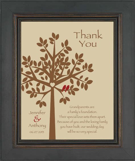Gift For Grandparents - wedding gift for grandparents from groom thank you