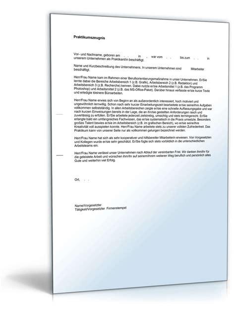 Praktikum Beurteilung Vorlage Praktikumszeugnis Note Eins Editierbares Muster Als Pdf Doc