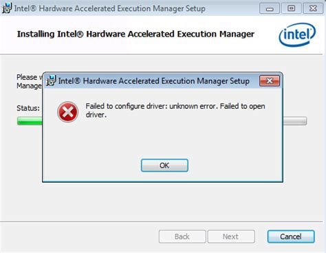 Intel Chipset Driver Mba Unknown Error by Haxm Install Fails On Windows 7 Quot Failed To Configure