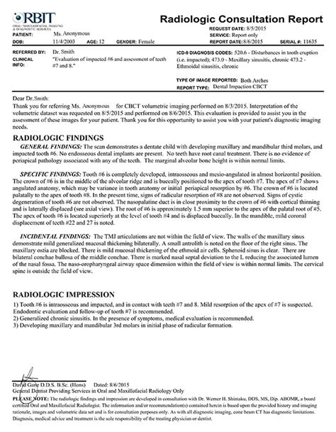 Radiology Report Form Www Imagenesmi Com Radiology Report Template