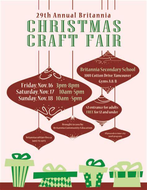 kelownachristmas craft fair britannia community services centre britannia craft fair