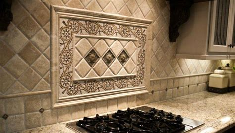 backsplash medallions kitchen backsplash ideas astonishing tile backsplash medallion