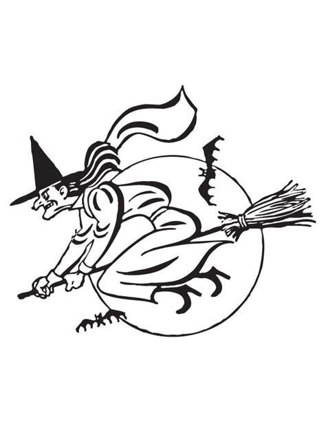 flying witch coloring page flying witch coloring page download free flying witch