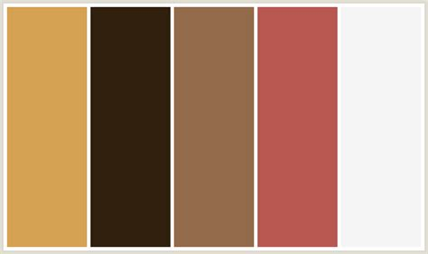 what colors go with dark brown colorcombo396 with hex colors d5a253 301f0d 936a4a