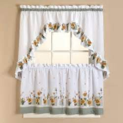 image sunflower kitchen curtains tier set