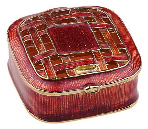 square jewelry box enamelled trinket box jewelry incl