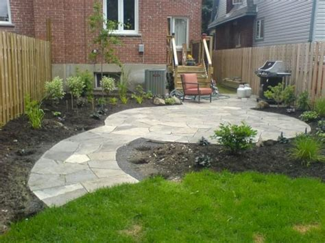 Rock Patio Designs Flag Patio Outdoor Inspiration