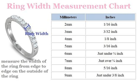 Wedding Ring Width by Wedding Ring Guide For Brides My Wedding Ring