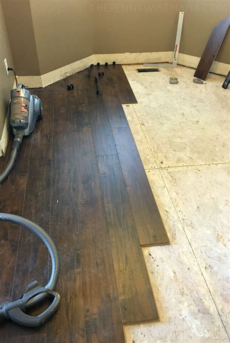 DIY Select Surfaces Laminate Flooring   Our Big Reveal