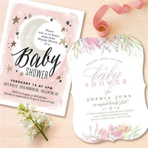 Moon And Baby Shower Ideas by And Moon Baby Shower Themed Invitation For