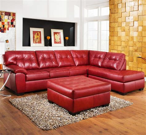 red leather sectional sofa red couch red leather couch