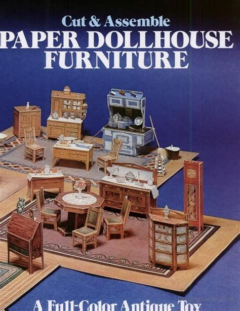 How To Make Paper Dollhouse Furniture - cut and assemble paper dollhouse furniture american