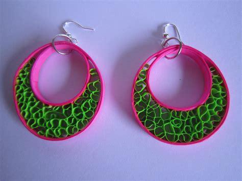 Handmade Paper Jewellery Ideas - earrings quilling designs