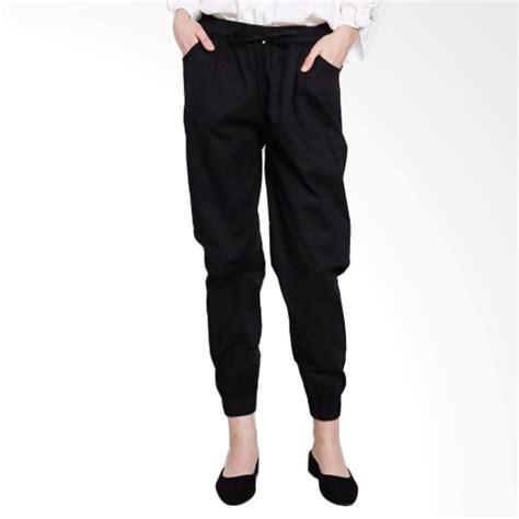 Fashion Wanita Celana Jogger jual noia clothing jogger celana wanita black harga kualitas terjamin