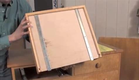 installing  mount drawer  woodworking blog