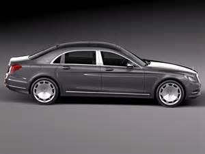 mercedes s class maybach 2016 3d model max obj 3ds