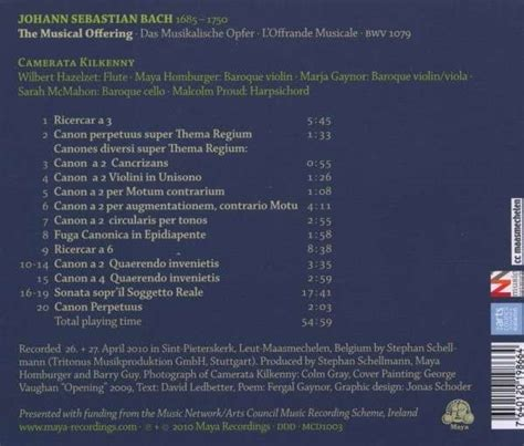 bach musikalisches opfer the musical offering l musical offering bwv 1079 recordings part 12 2010 2019