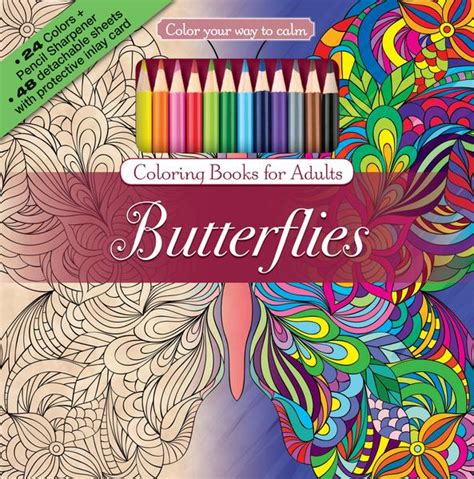 colored pencils and coloring books butterflies coloring book with color pencils color