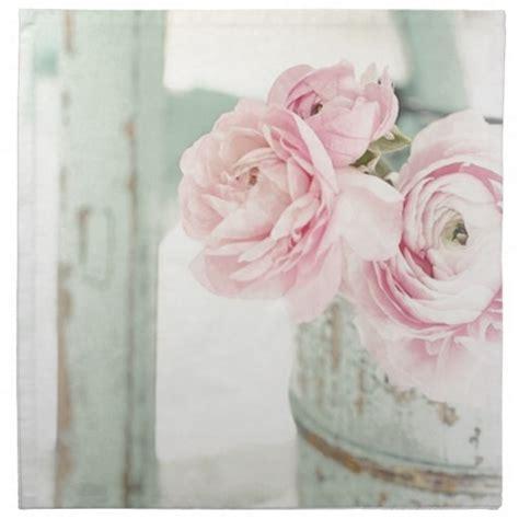 servietten shabby shabby chic krug rosa blumen servietten zazzle