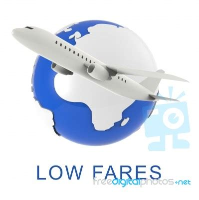 fares shows discount airfare  rendering stock image