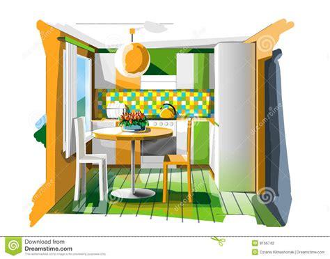 cucina arancione cucina arancione illustrazione di stock illustrazione di