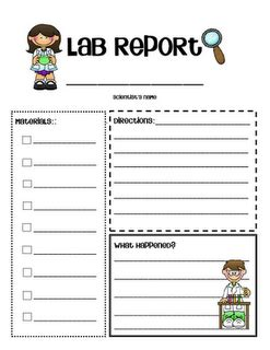 science book report template lab report for simple science experiments
