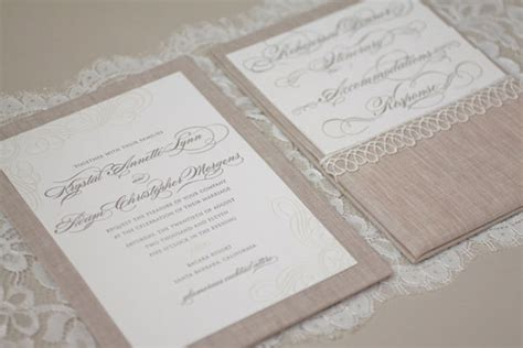 Linen Paper Wedding Invitations by Adam S Linen And Lace Quot Bunny Quot Wedding