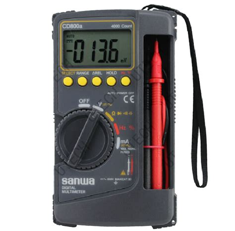 Multimeter Digital Sanwa Pc510 new sanwa digital multimeter cd800a cd800a dmm 4000 volt